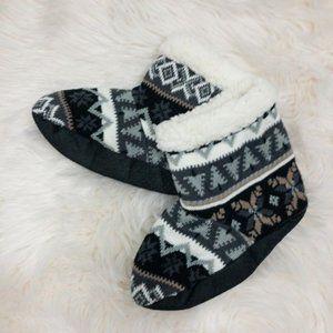 Muk Luks Fair Isle Sock Booties